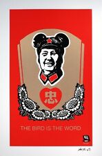 Frank Kozik SIGNED Chairman Mao Giclee Print 2006 The Bird Is The Word EXCLUSIVE
