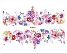 Nail Art Pegatinas Calcomanías Traslados coloridas flores de agua (WG278)