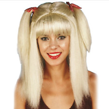 Baby Spice Pigtails Blond Wig Three's Company Farmer's Daughter Harley OS Quinn