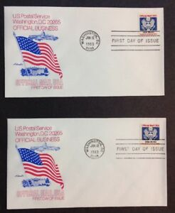 US Official Business FDC covers $1 & $5 cancel Washington DC 1983