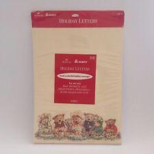 Avery Holiday Letters Hallmark Printer Paper Stationary Teddy Bears Christmas