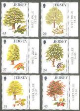 Jersey-Trees-1998 mnh set
