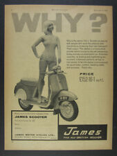 1961 James Cycle 150 Scooter photo vintage print Ad