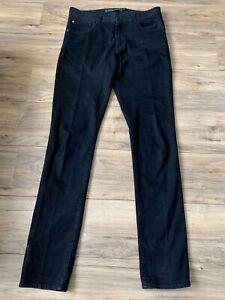 Men quicksilver jeans Size 33 Black Slim Tapered Fit Long Leg 35inch Zip Flies