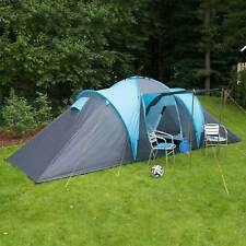 skandika Hammerfest 6 Person/Man Family Tent Camping Dome Blue Canopy New