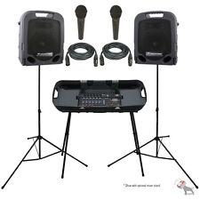 Peavey ESCORT 3000 300w Portable PA Powered Speaker System w/Mixer + 2 PV-7 Mics