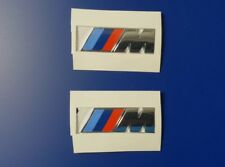 2 Stück Original BMW M Emblem Logo 45x15mm 3D Aufkleber Chrom