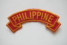#6711 PHILIPPINE Word Tag Embroidery Sew On Applique Patch