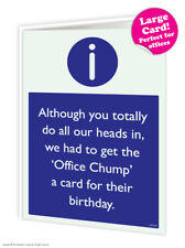 Large Size Group Birthday Card Office Work Colleague Friend Funny Comedy Humour