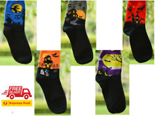 Unique Socks Set of 5 Cute Ankle High Spooky Costume for kids Bats Witches
