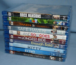 10 NEW SEALED Blu-Ray Movies Rio 2, Taken 3, Walter Mitty, Enough Said, Echo