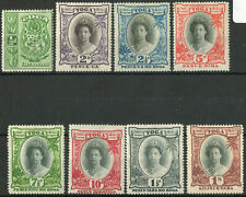 Tonga 1920 KGV Early Queen Salote set of 8 to 1 shilling LMM