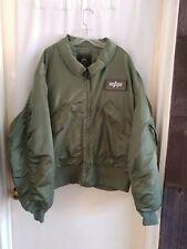 Alpha Industries Flyers CWU-45/P Flight  Jacket Men's size 5XL color Sage Green
