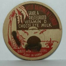 Vintage Pog / Milk Cap * Hilo Dairymen's Center Chocolate Milk * Bin10