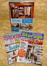 3 storage guides books 1 Readers Digest storage/shelving book + 2 magazines