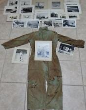 LOT COLLECTION ORIG WWII 451st BOMB THEATER AERIAL PLANE NOSE ART PHOTO COVERALL