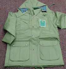 Men Work Wear Green Jacket Waterproof Parka Heavy Duty Country Coat - M / L
