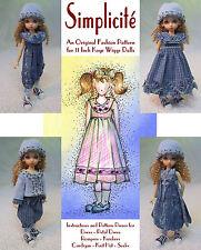 """Simplicité"" Fashion Pattern for 11"" Kaye Wiggs Bjds"