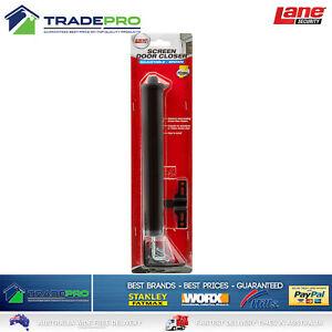 Door Closer Lane Pneumatic Adjust Universal Security Screen Opener Black 6253736