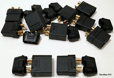 (5) New Style Black Male / Female XT90-H Bullet Connector Pairs - No Heat Shrink