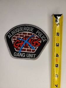 New Mexico Police Patch - Albuquerque New Mexico Gang Unit Police Patch
