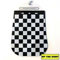 Chequered Scooter Mudflap Mud flap+bracket suit Lambretta Vespa 60's Mod Style