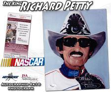 "RICHARD PETTY Signed NASCAR RACING ""THE KING"" 8x10 - JSA #I84501"