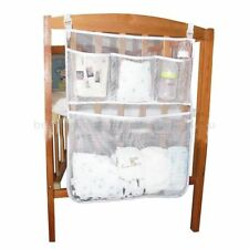 Baby Crib Storage Pocket Multi-Purpose Clothes Diaper Nappy Hanging Net Bag WA