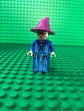 LEGO HARRY POTTER PROFESSOR TRELAWNEY PURPLE HAT BLUE ROBE MINIFIGURE 4757