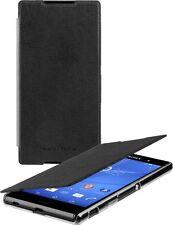 Roxfit Ultra Slim Book Case Cover for Sony Xperia Z3  Z3+ Z4 - Black