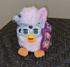 New Furby Buddies Vintage 1999 Beanbag Plush Gray Spotted Tiger Toys