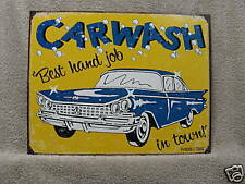 Great Car Wash Novelty Tin Metal Sign Garage NEW