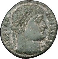 Constantine I The Great 324AD Silvered Ancient Roman Coin Military gate  i32113
