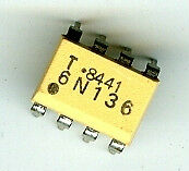 5 x OPTOCOUPLEURS 6N136  8 pins