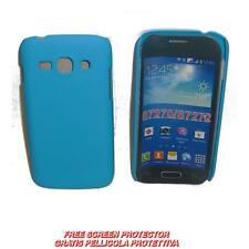 Pellicola+custodia BACK COVER RIGIDA AZZURRA per Samsung Galaxy Ace 3 S7270 7272