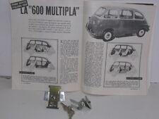 FIAT 600 MULTIPLA DEL 56 CHIUSURA COFANO POSTERIORE CON CHIAVE