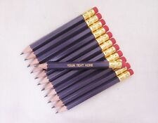 "24 ""Violet"" Personalized Golf Pencils w/Erasers"
