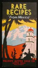 Rare Recipes From Mexico Walkers Austex Chile Vintage Cookbook Advertisement (O)