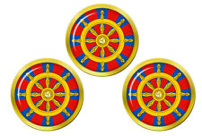 Dharmacakra Wheel of Dharma Buddhism Golf Ball Markers