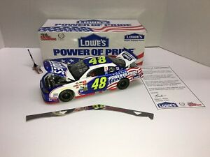 JIMMIE JOHNSON 2002 #48 LOWES EMPLOYEE SPECIAL POWER OF PRIDE 1/24 ROOKIE NIB