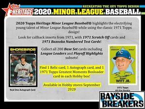 Cleveland Indians 2020 Topps Heritage Minor Baseball Half Case (6 Box) Break #4