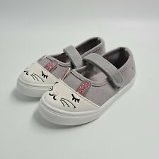 Studio Junior Girls Flat Shoes Rabbit Design Canvas Trainers Size UK 8 (EU 25)