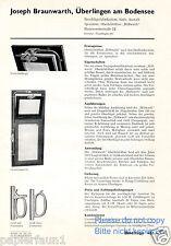 Baubeschlag Fabrik  Braunwarth Überlingen Reklame von 1935 Höllwarth Werbung ad