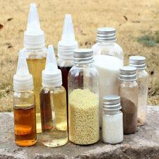 10-100ml Travel portable Spice Makeup Bottle Jar Lid Clear Plastic kitchen Gifts