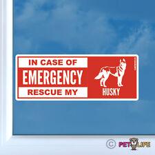 In Case of Emergency Rescue My Husky Sticker Die Cut Vinyl - dog safety siberian