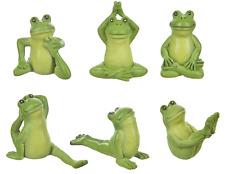 6 Ganz Mini Yoga Frog Figurines Figure Statues Miniature Small 1 1/8 Inch Tall