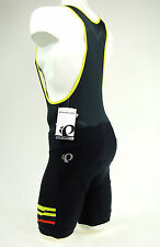 Pearl Izumi 2017 Elite Escape Cycling Bib Shorts Black/Citron Yellow, Medium