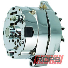 100% NEW CHROME ALTERNATOR Chevy 110 AMP One Wire 65-85
