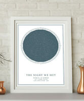 Personalised Night Sky Star Map Print Day We Met 1st Anniversary Paper Gift