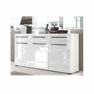 Sideboard Anrichte Kommode Wohnzimmer Schrank Puma 3-türig in weiß
